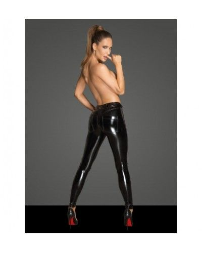 F202 PVC leggins with tulle inserts L