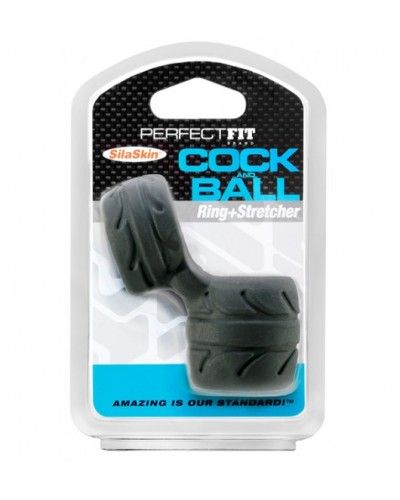 Perfect Fit SilaSkin Cock & Ball Black