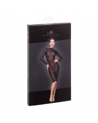 F182 Classic dress made of elastic tulle M