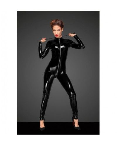 F188 PVC overall with long metal 3-way zipper S