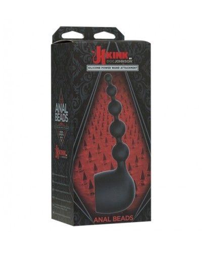 Kink Anal Beads - Silicone Wand Attachment