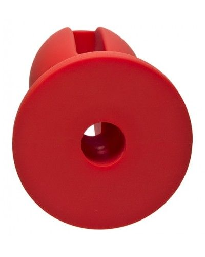 """Kink Wet Works Lube Luge - Premium Silicone Plug 4"""" Red"""