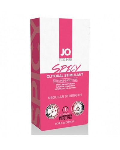 System JO For Her Clitoral Stimulant Warming Spicy 10 ml