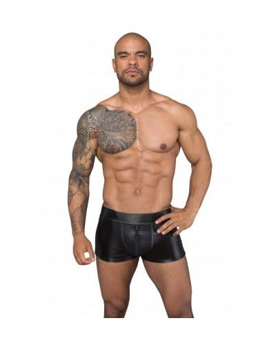 H058 Shorts made of powerwetlook and 3D net M